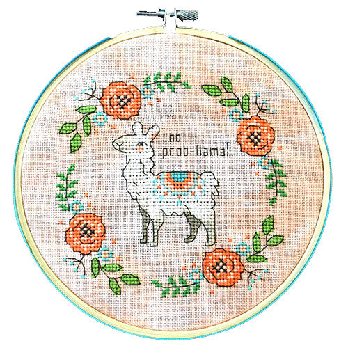 No Prob-llama Counted Cross Stitch Kit - Limited Edition (20% OFF)