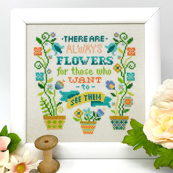 Always Flowers Cross Stitch Pattern
