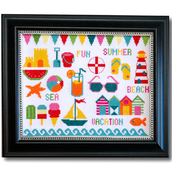 Beach Motifs Cross Stitch Pattern