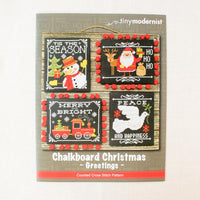 Chalkboard Christmas Greetings Cross Stitch Pattern