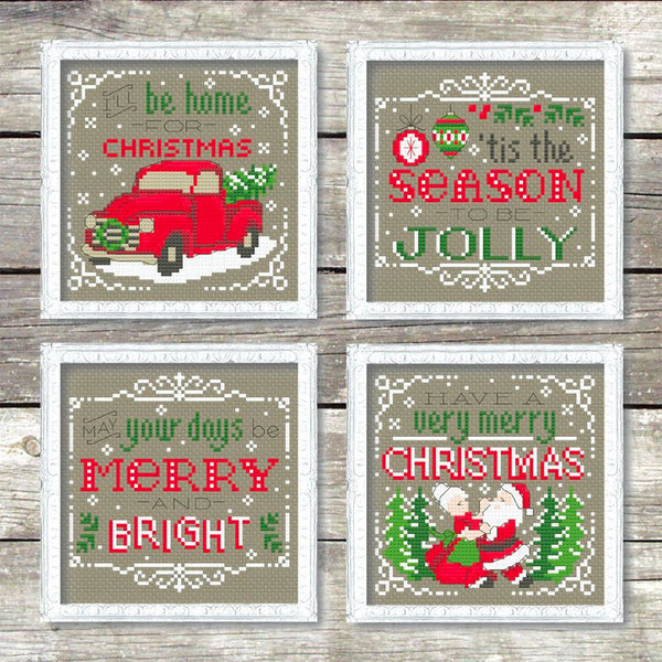 Christmas Signs Cross Stitch Pattern