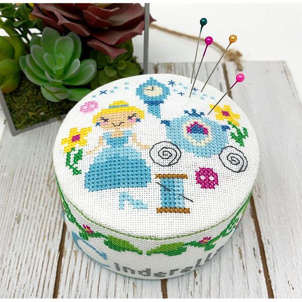 Fairy Tale Pincushion Cross Stitch Pattern - Cinderella