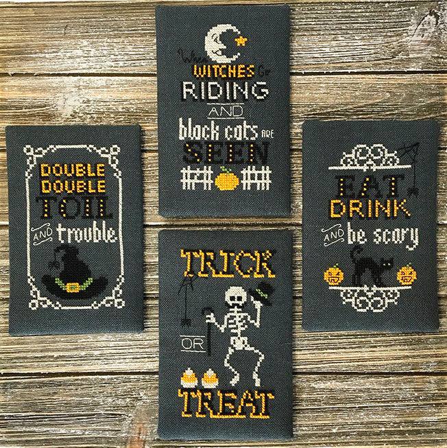Halloween Signs Cross Stitch Pattern