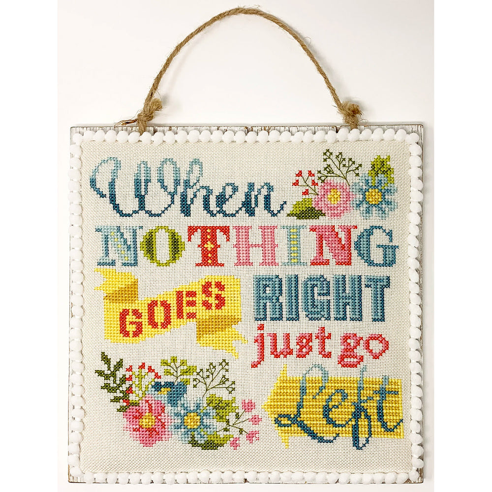 Just Go Left Cross Stitch Pattern