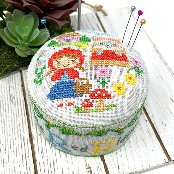 Fairy Tale Pincushion Cross Stitch Pattern - Little Red Ridinghood