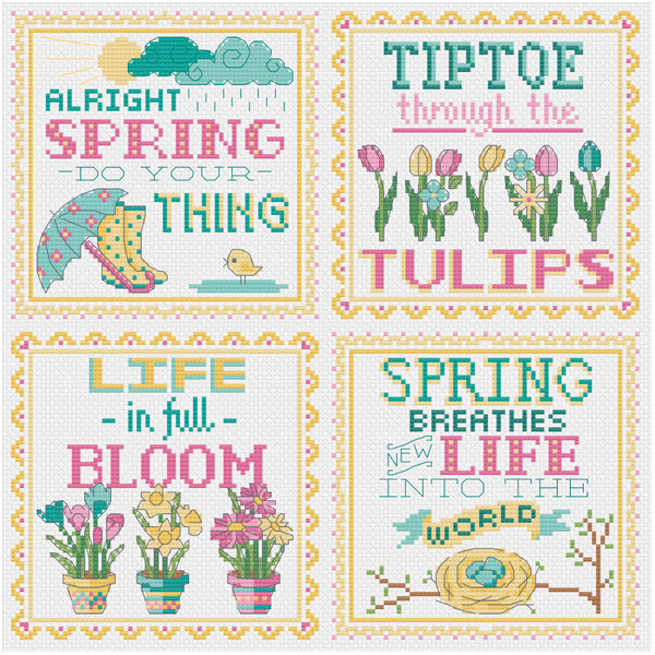 Spring Signs Cross Stitch Pattern