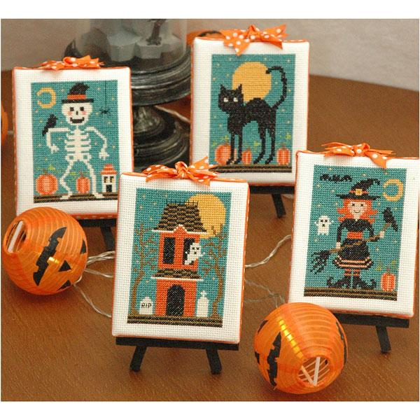 Halloween Cuties Cross Stitch Pattern