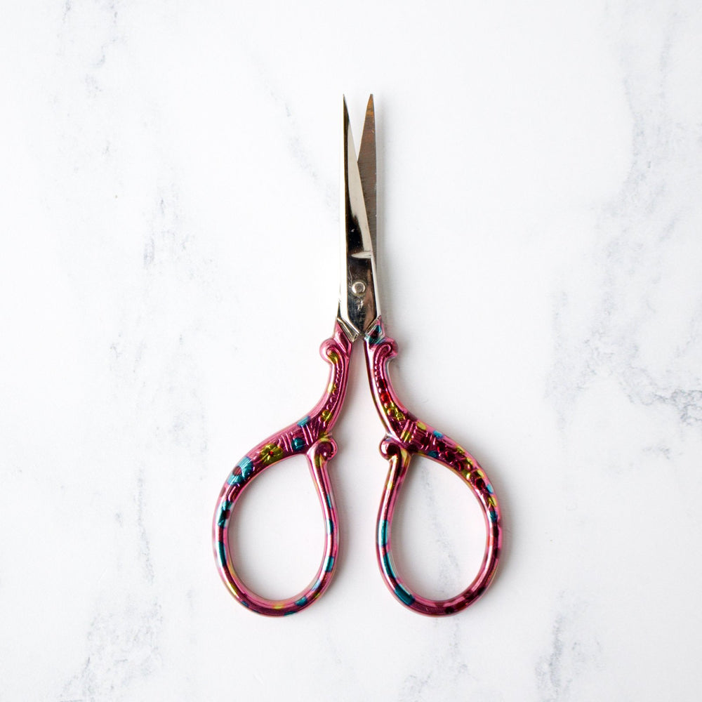 Pink Confetti Embroidery Scissors with Sheath