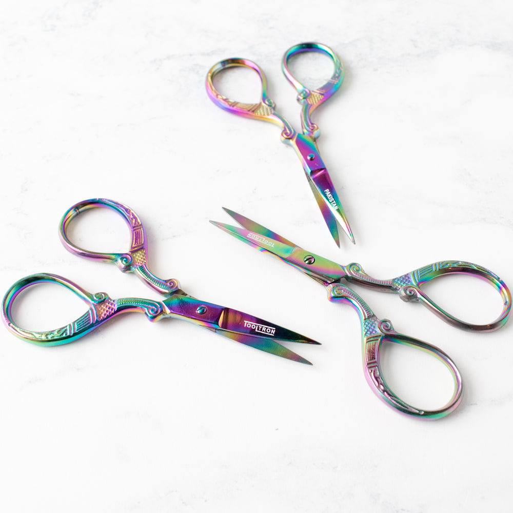 Prismatic Embroidery Scissors - Rainbow Designer Series