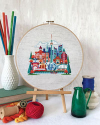 Pretty Little Toronto Cross Stitch Pattern