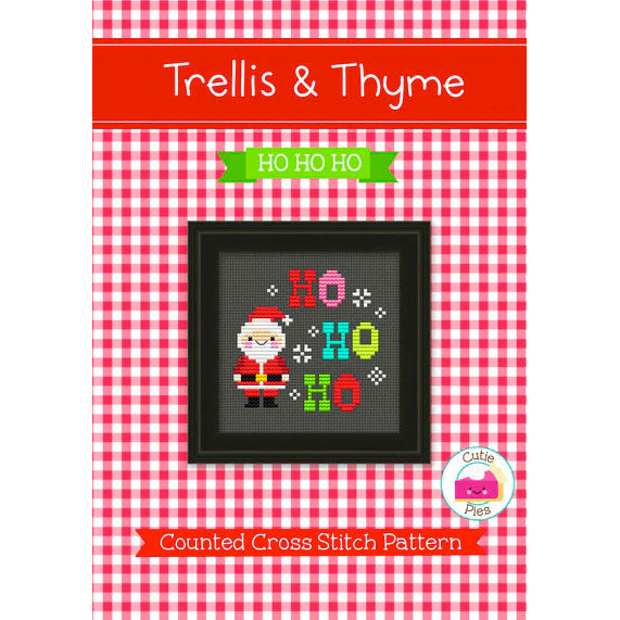 Ho Ho Ho Christmas Cross Stitch Pattern