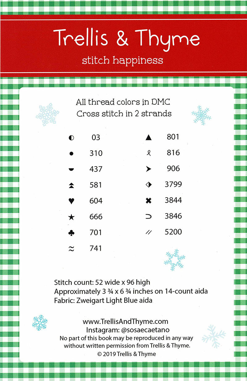 Cozy Christmas Sampler Cross Stitch Pattern