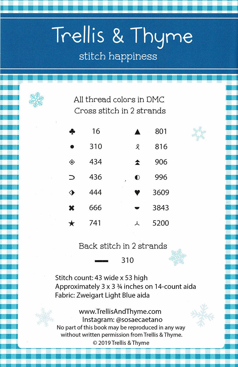 Welcome Winter Cross Stitch Pattern