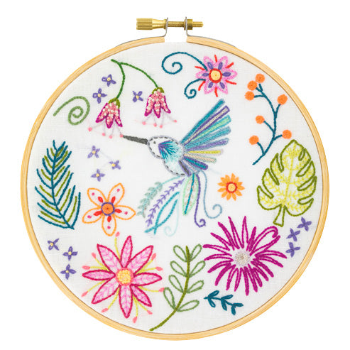 French Hand Embroidery Kit - Zacharie the Hummingbird