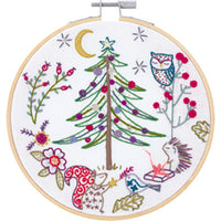 French Hand Embroidery Kit - Noël en Forêt (Christmas in the Forest)