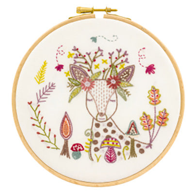 French Hand Embroidery Kit - Doe, a Deer