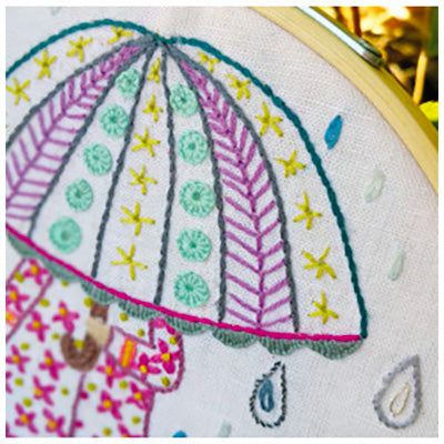 French Hand Embroidery Kit - Emilie, Who Loves the Rain