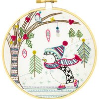 French Hand Embroidery Kit - Gaspard the Snowman
