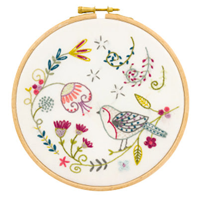 French Hand Embroidery Kit - George the Bird