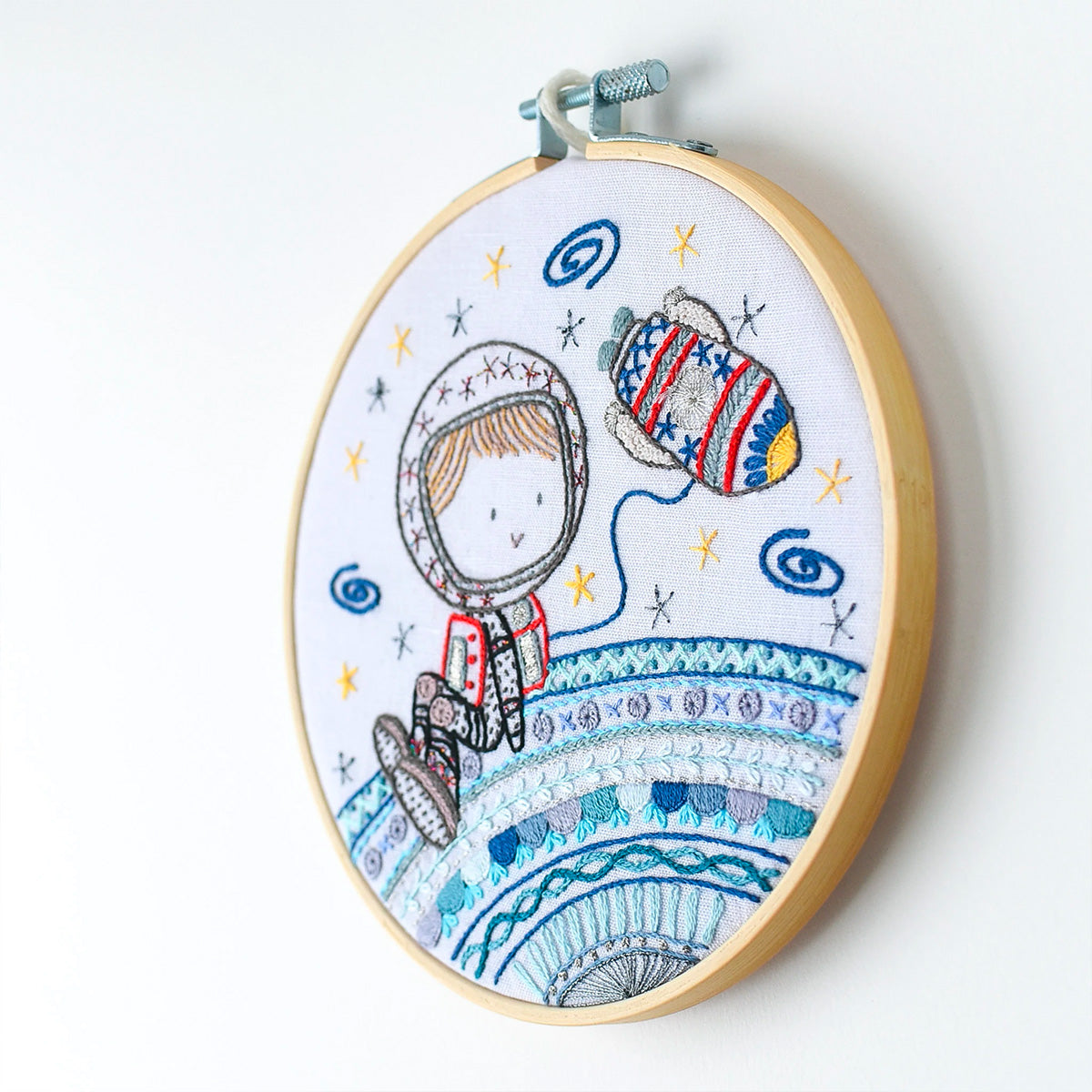 French Hand Embroidery Kit - Hello Earth
