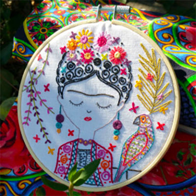 French Hand Embroidery Kit - Joile Frida