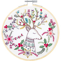 French Hand Embroidery Kit - Le Roi de la Forêt (King of the Forest)