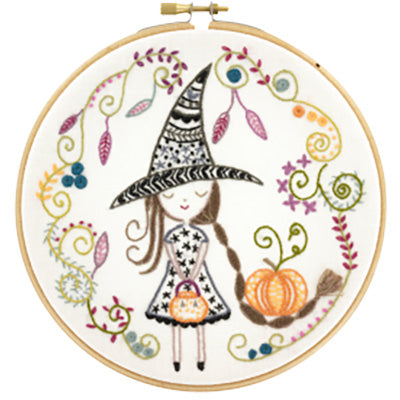 French Hand Embroidery Kit - Little Witch