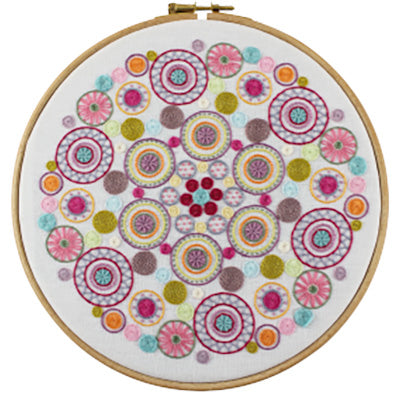 French Hand Embroidery Kit - Mandala No. 3