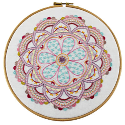 French Hand Embroidery Kit - Mandala No. 8