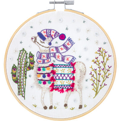 French Hand Embroidery Kit - Mon Beau Lama (My Handsome Llama)