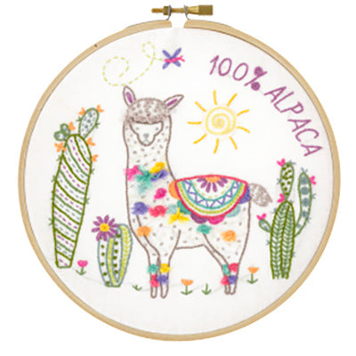 French Hand Embroidery Kit - Nicola the Llama