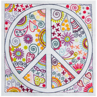 French Hand Embroidery Kit - Peace and Love