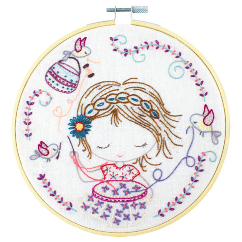 French Hand Embroidery Kit - Salome Embroiders