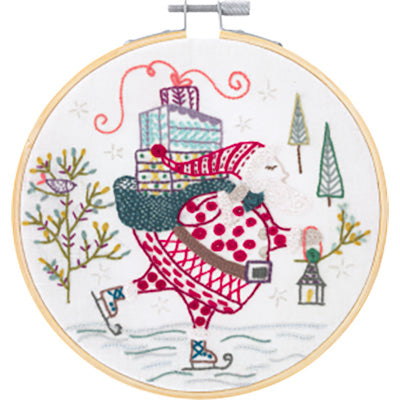 French Hand Embroidery Kit - Ho, Ho, Ho