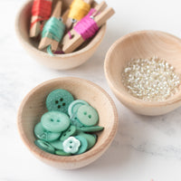 Mini Unfinished Wood Bowls - Set of 3