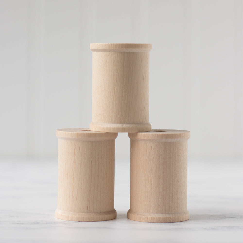 Unfinished Wood Thread Spools - Set of 3