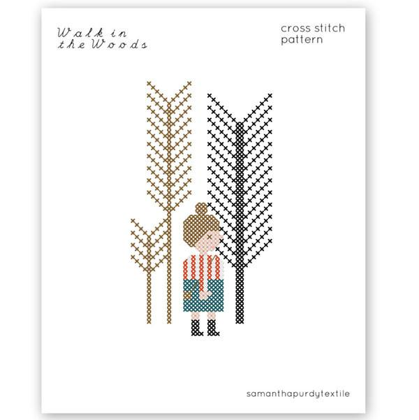 Walk in the Woods Cross Stitch Pattern