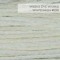 Weeks Dye Works Embroidery Floss - Whitewash #1091
