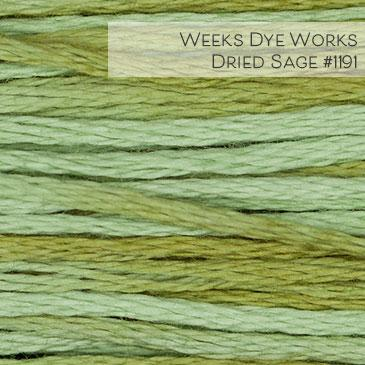 Weeks Dye Works Embroidery Floss - Dried Sage #1191