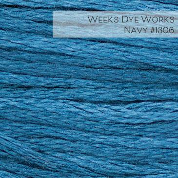 Weeks Dye Works Embroidery Floss - Navy #1306