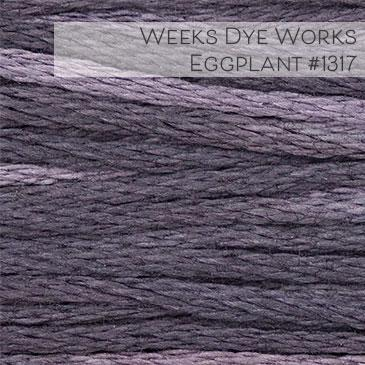 Weeks Dye Works Embroidery Floss - Eggplant #1317
