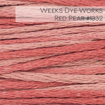 Weeks Dye Works Embroidery Floss - Red Pear #1332