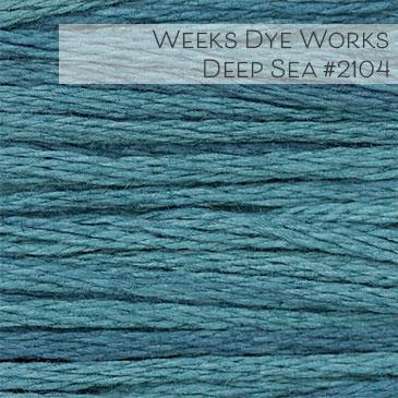 Weeks Dye Works Embroidery Floss - Deep Sea #2104