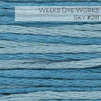Weeks Dye Works Embroidery Floss - Sky #2111