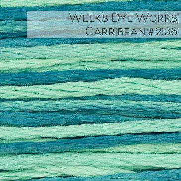 Weeks Dye Works Embroidery Floss - Caribbean #2136