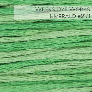 Weeks Dye Works Embroidery Floss - Emerald #2171