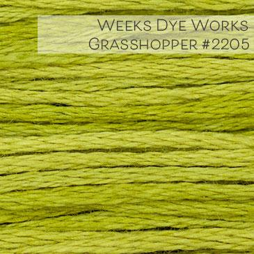 Weeks Dye Works Embroidery Floss - Grasshopper #2205