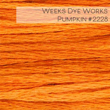 Weeks Dye Works Embroidery Floss - Pumpkin #2228