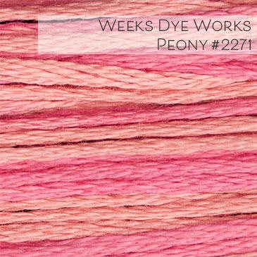 Weeks Dye Works Embroidery Floss - Peony #2271