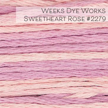 Weeks Dye Works Embroidery Floss - Sweetheart Rose #2279